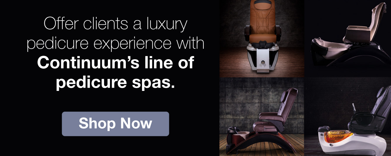 Half Page Ad – Luxury Pedicure Spas from Continuum – Click to View Page