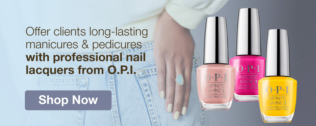 Half Page Ad – Shop Professional Nail Lacquers from OPI – Click to View Page