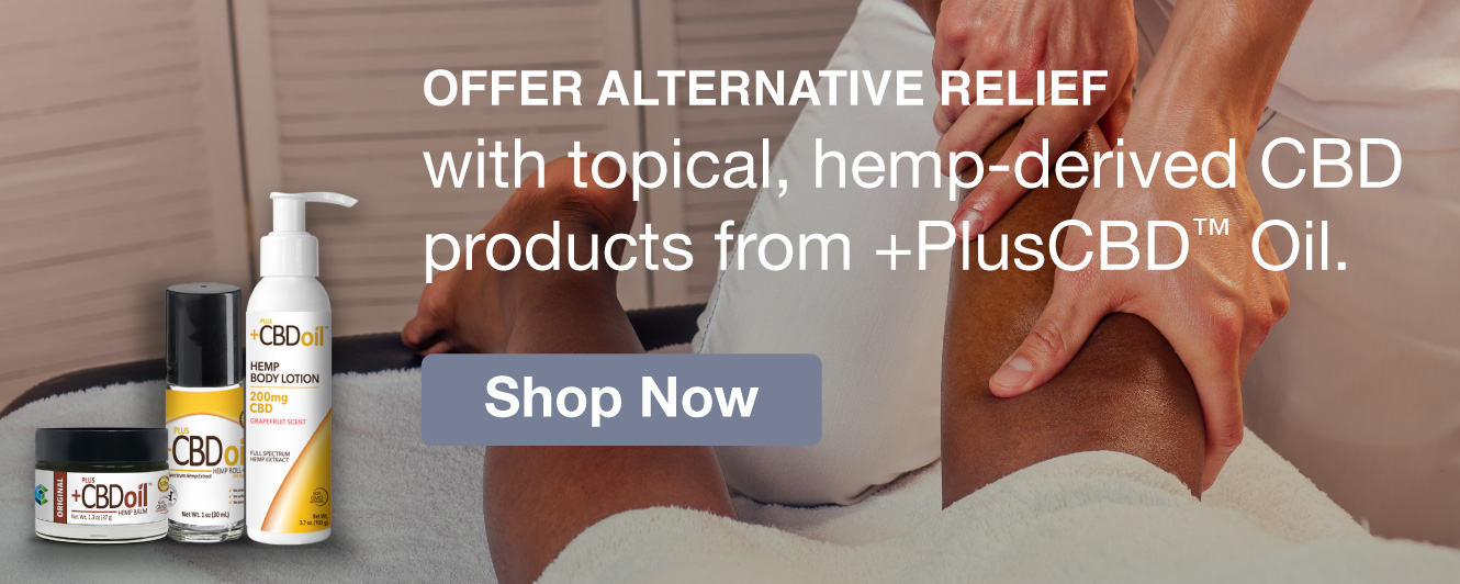 Half Page Ad –  Shop +PlusCBD™ Oil Products at MeyerSPA – Click to View Page