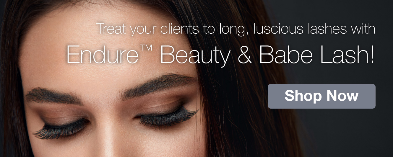 Half Page Ad – Shop Our Collection of Lashes Collection from Endure Beauty and Babe Lash – Click to View Page