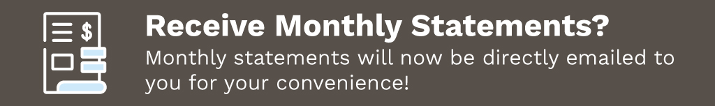 Home Page Banner Ad –  Monthly Statements now emailed from MeyerSPA – Click to View Page
