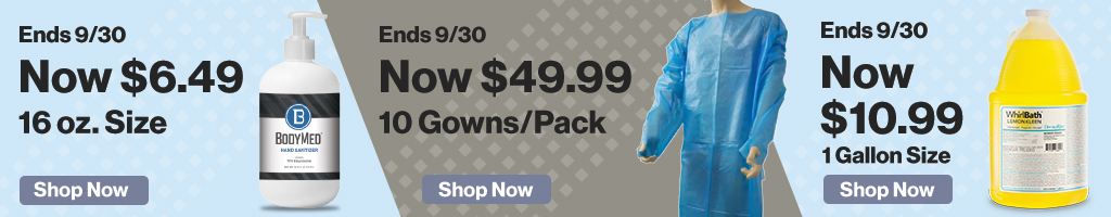 Home Page Banner Ad –  Save on Hand Sanitizer, Masks, Pulse Ox and More – Click to View Page