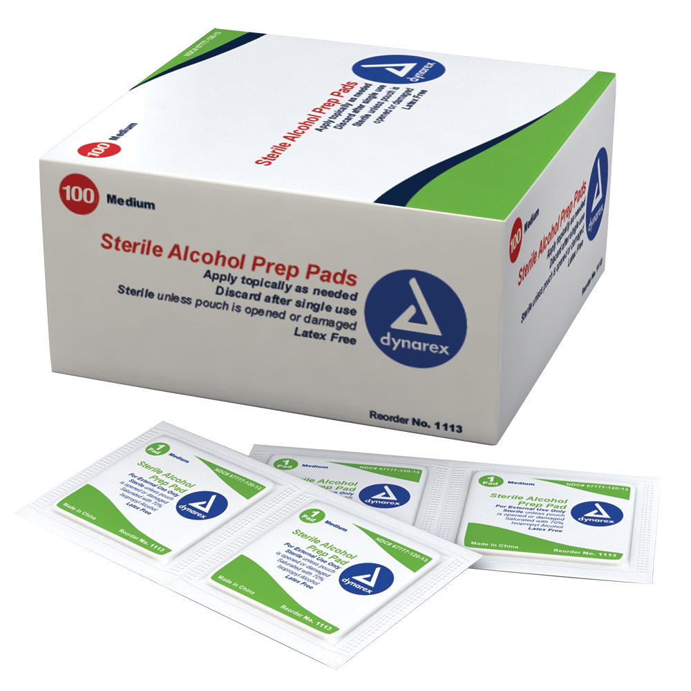 Featured Products - Dynarex Alcohol Prep Wipes (Sterile) - Click to Shop