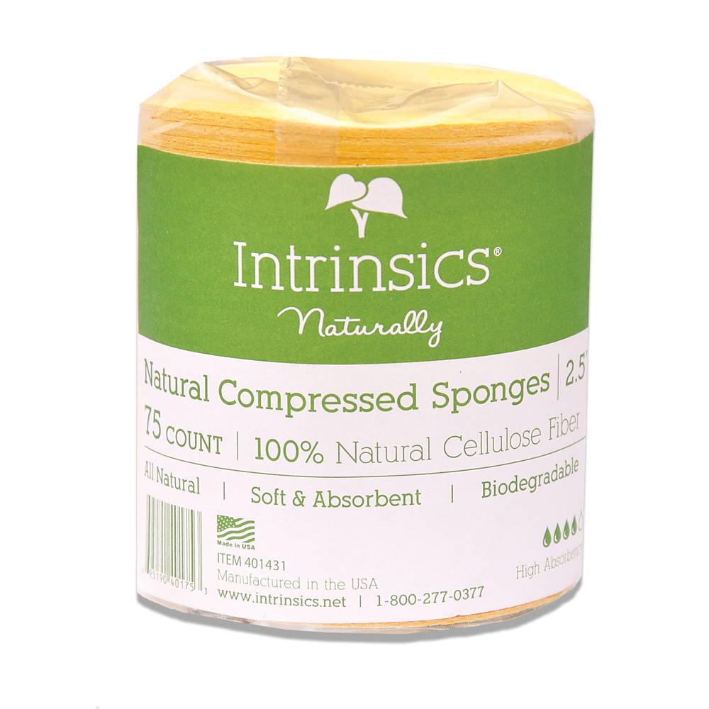 Backbar Products - Intrinsics Compressed Cellulose Sponges - Click to Shop