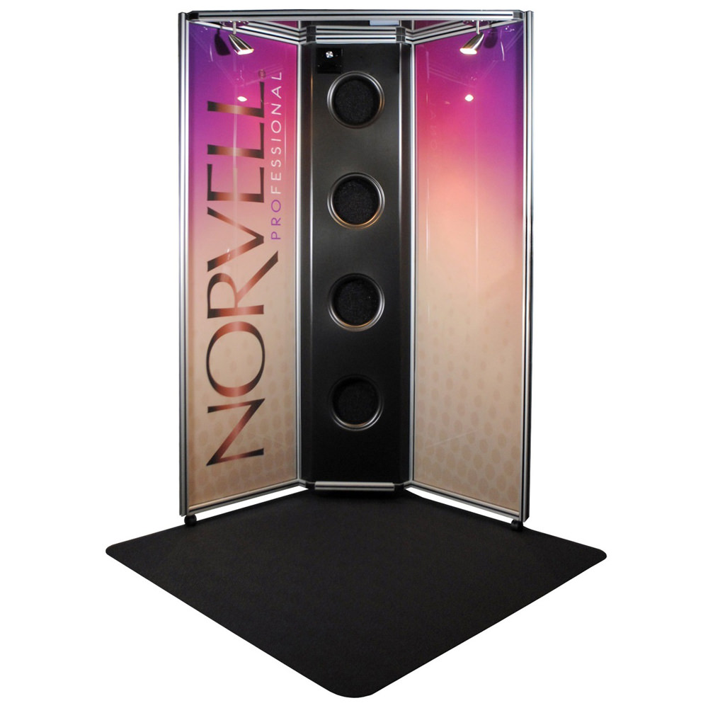 Norvell Sunless Overspray Reduction Booth, Colored Panels