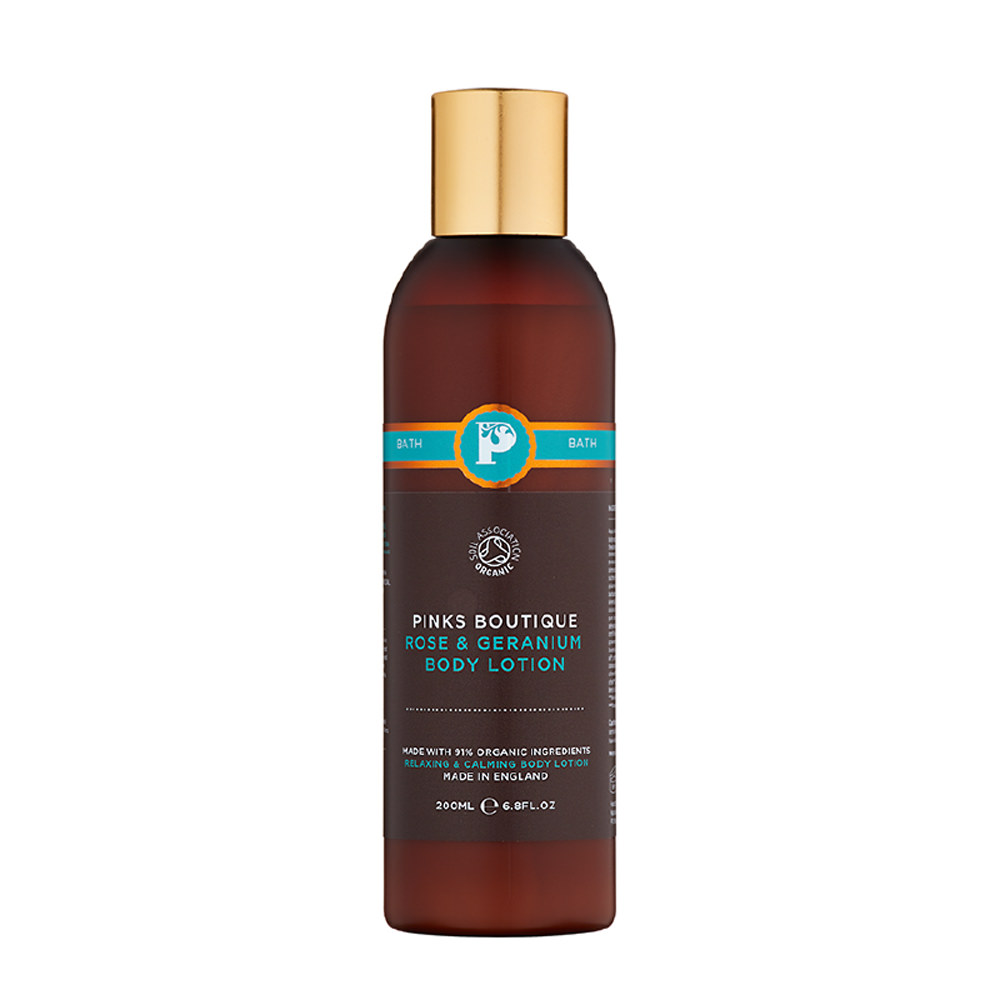 Featured Products - Pinks Boutique Rose and Geranium Body Lotion - Click to Shop